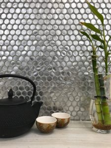 Silver Penny Round Tiles