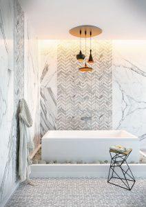 Textured tile bathroom tile trends