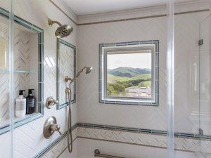 Modern farmhouse shower