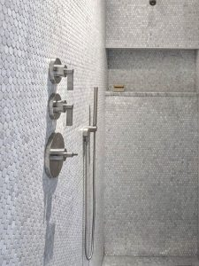shower penny round tiles