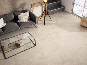 large format tiles living room