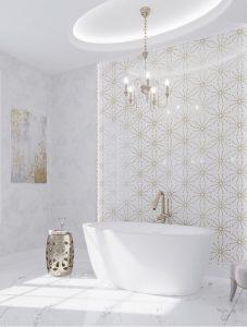 Art Deco inspired master bathroom