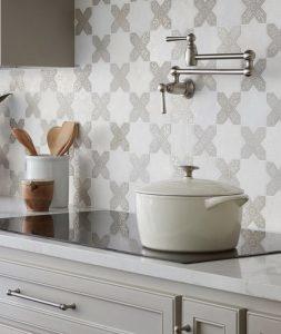 Natural Stone Tile Cross pattern kitchen backsplash