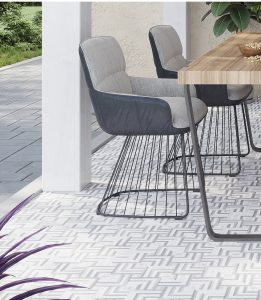 Pattern Stone Kitchen Floor Tiles in Home