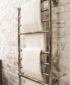 marble subway ties in bathroom