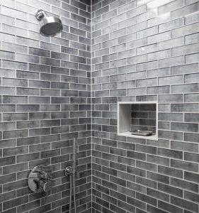 gray shower subway tiles