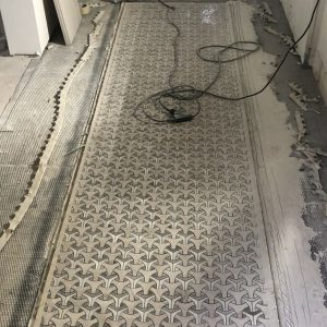 mosaic tiles install floor