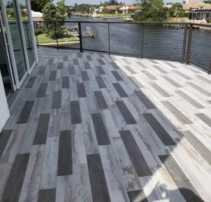 Tanglewood Porcelain Tile Mix on residential patio