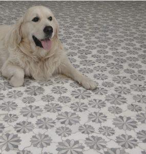 floral stone mosaic tiles floor