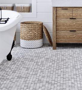 Modern farmhouse bathroom floor tile