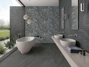 Modern decorative tile bathroom