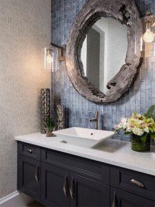 Gorgeous elegant bathroom backsplash
