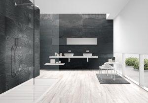 gray large format tiles