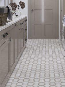 Modern Farmhouse laundry room floor tile