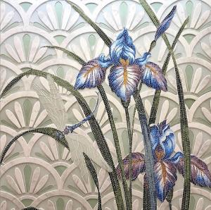 floral mural mosaic art