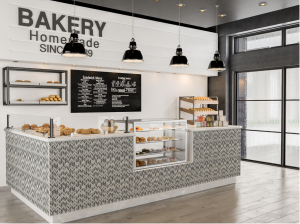 Farmhouse bakery interior design styles